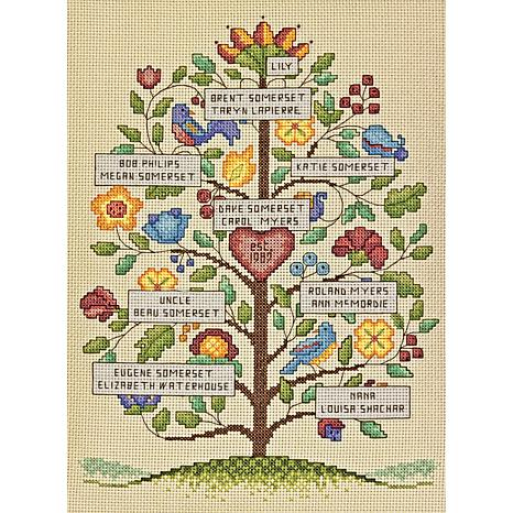 Dimensions Counted Cross Stitch Kit 9X12 - Vintage Family Tree (14 Count)