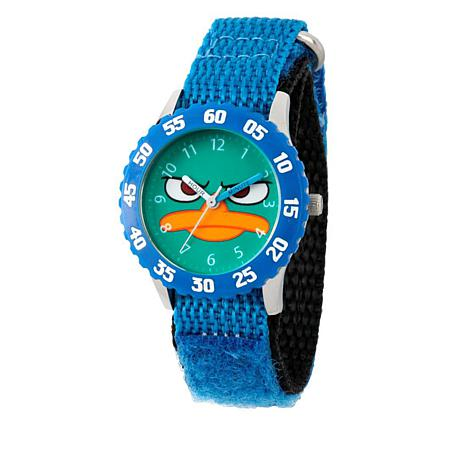 Disney Agent P Kid's Time-Teacher Watch with Rotating Bezel - Blue