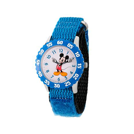 Disney Mickey Mouse Kid's Blue Strap Time-Teacher Watch