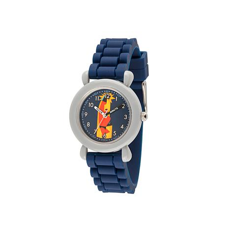 "Disney ""Mr. Incredible"" Kid's Time-Teacher Blue Strap Bracelet Watch"