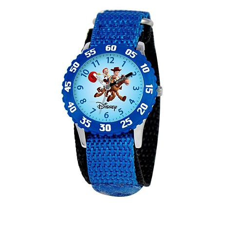Disney Toy Story Kid's Time-Teacher Watch with Rotating Bezel - Blue