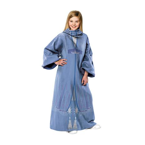 Disney's Frozen 2 - Elsa Fall Gown Youth Throw Blanket with Sleeves