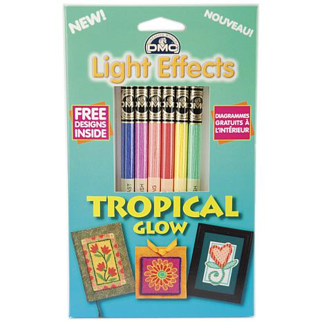 DMC Light Effects Tropical Glow Embroidery Floss Pack