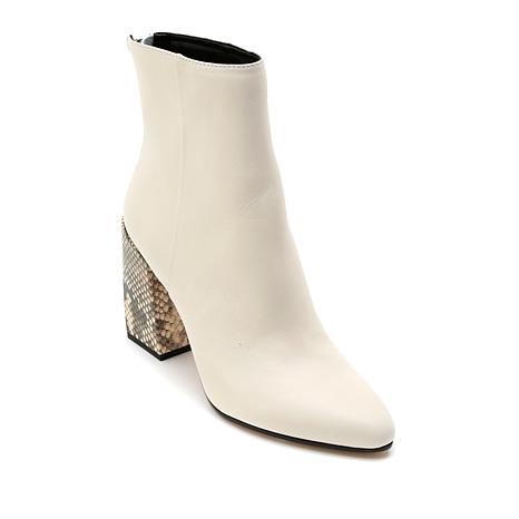 Dolce Vita Coby Leather Bootie with Embossed Heel