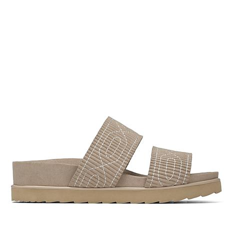 Donald J. Pliner Cait Leather or Suede Ruched Slide Sandal