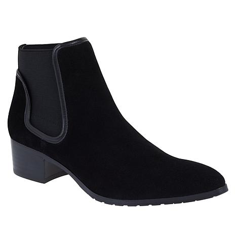Donald J. Pliner Dyla Double-Gored Suede Bootie