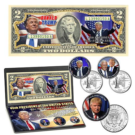 Donald Trump 45th President Currency & Coin Collection
