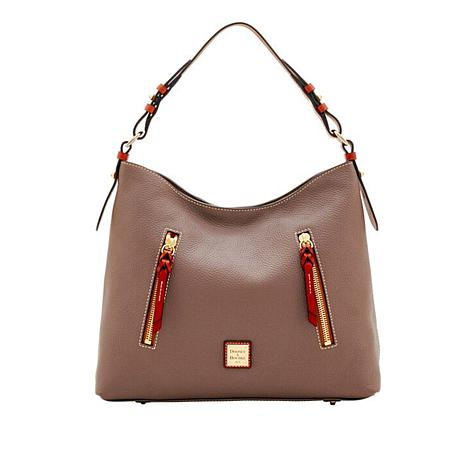 d2a235839 Dooney & Bourke Cooper Pebble Leather Hobo - 8796816 | HSN