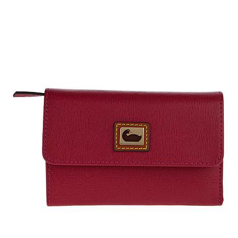 Dooney & Bourke Saffiano Leather Flap Wallet