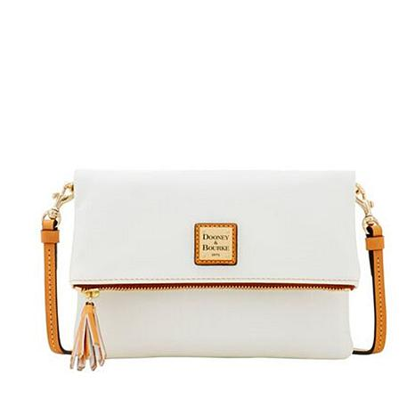 clients first uk store buy online Dooney & Bourke Smooth Leather Foldover Crossbody Bag