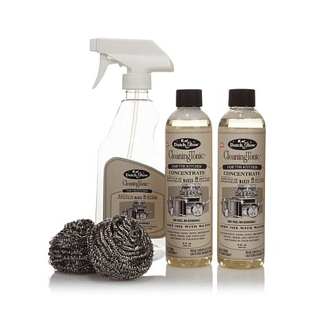 Dutch Glow Cleaning Tonic with 2 Stainless Scrubbers