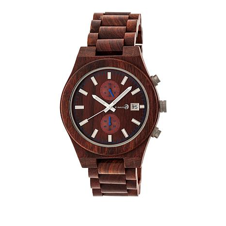 "Earth Wood Goods ""Castillo"" Red Wood Bracelet Watch"