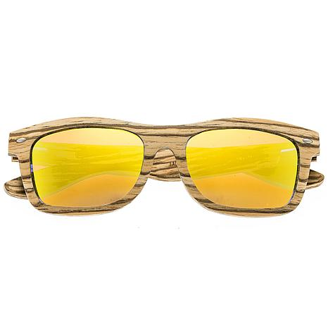 Earth Wood Maya Polarized Sunglasses Yellow Lens