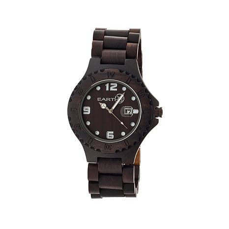 "Earth Wood ""Raywood"" Dark Brown Dial Wood Watch"