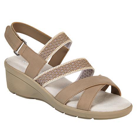 easy spirit Priya3 Strappy Slingback Wedge Sandal