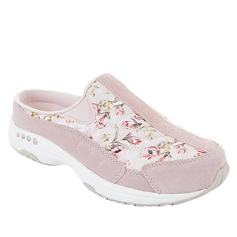 18afd36777 easy spirit Traveltime Suede and Fabric Sport Clog - 8968378 | HSN