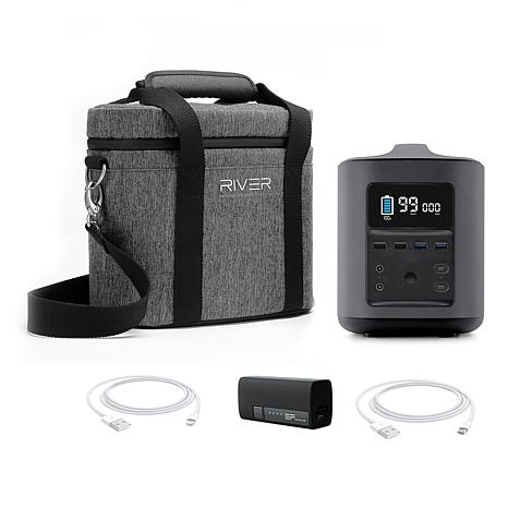 EcoFlow Tech RIVER Mobile Power Station withCase & Portable Charger