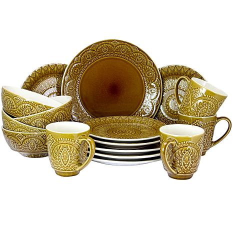Elama Cleo 16-piece  Dinnerware Set