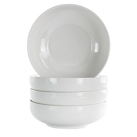 Elama Daily Deluxe 4 Piece Porcelain  Bowl Set in White