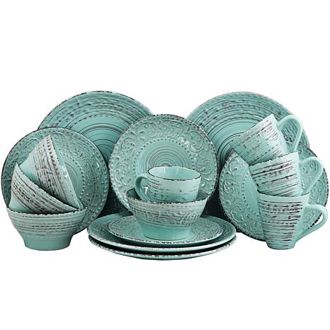 Elama Ocean Breeze 16-piece  Dinnerware Set