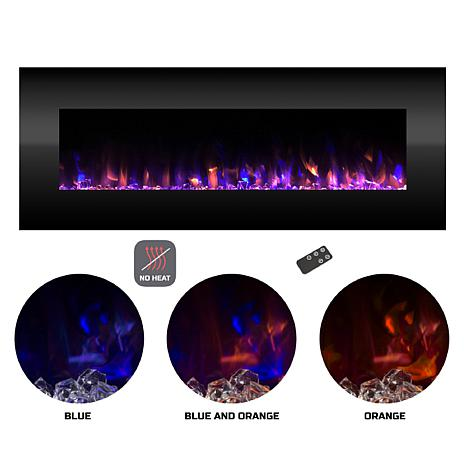 Electric Fireplace- Wall Mount Color Changing LED (NO HEAT) 54 quot;