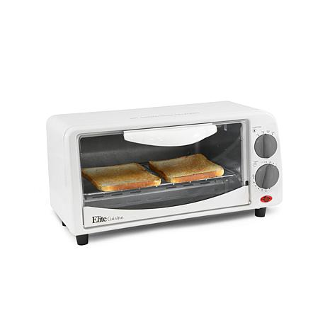 Elite Cuisine 2-Slice Toaster Oven with Broiler and Timer