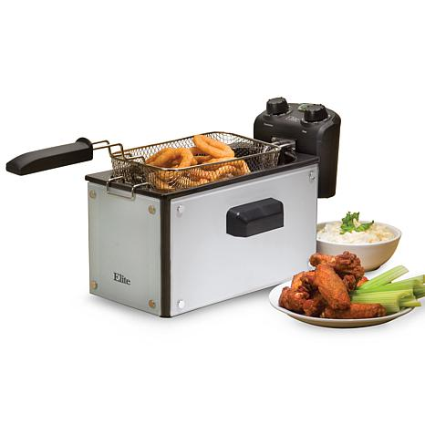 Elite Platinum 3.5qt. Glass Deep Fryer with Timer