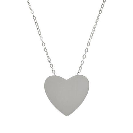 ELLE Sterling Silver Polished Heart Necklace