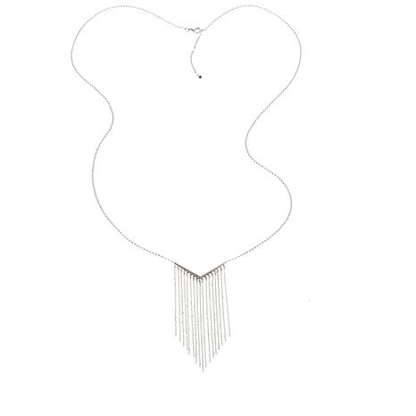 "ELLE ""Waterfall"" Fringe Sterling Silver 31-3/4"" Necklace"