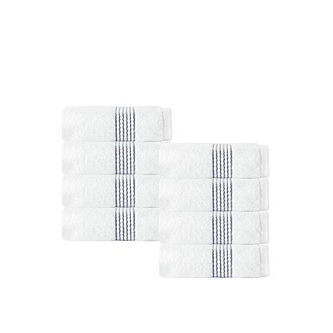 Enchante Home Elegante 100% Turkish Cotton 8-piece Wash Cloth Set