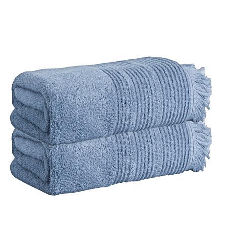 Enchante Home Ellen Set of 2 Turkish Cotton Bath Sheets