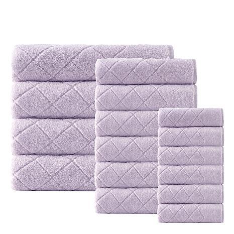 Enchante Home Gracious 16-piece Turkish Cotton Bath Towel Set