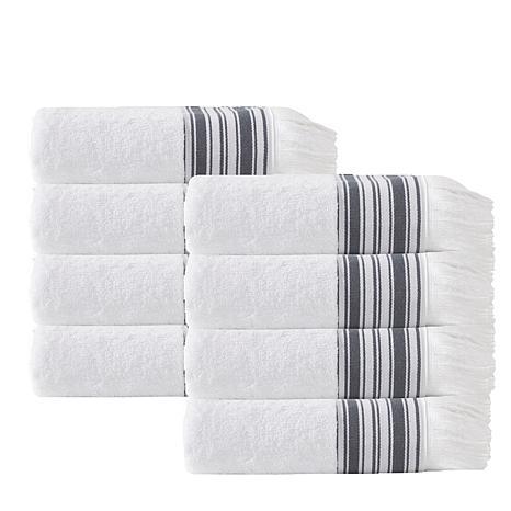Enchante Home Monaco Set of 8 Turkish Cotton Hand Towels