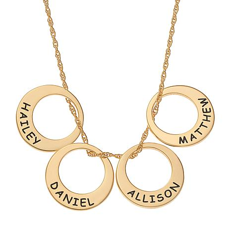 Engraved Name 4-Disc Necklace