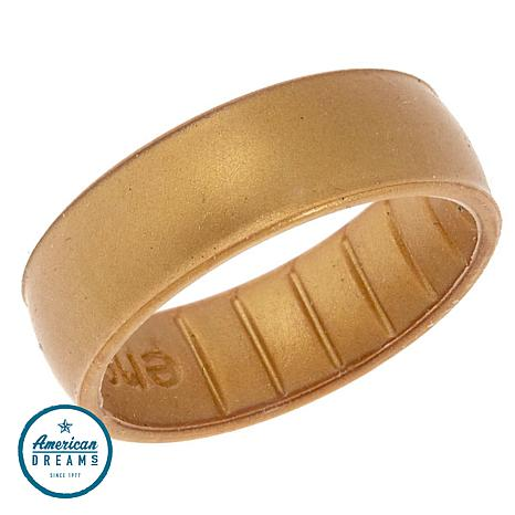 Enso Elements Classic Gold-Color Silicone Band Ring