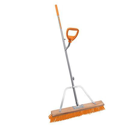 """Ergieshovel 24"""" Indoor/Outdoor Push Broom with Extra Handle"""