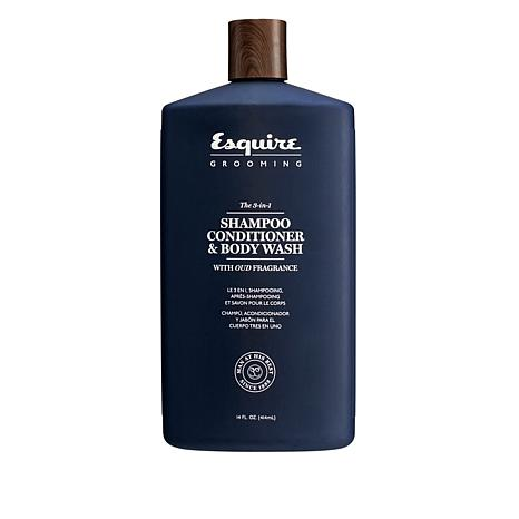 Esquire 3-in-1 Shampoo Conditioner and Body Wash 14 oz.