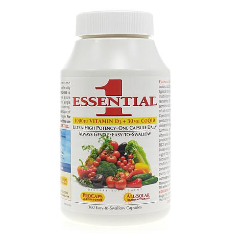 Essential-1 with Vitamin D3-1000 + 30mg CoQ10 - 360 Capsules