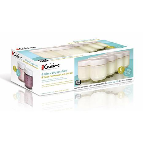 Euro Cuisine Set Of 8 Extra Glass Yogurt Jars 7537091 Hsn