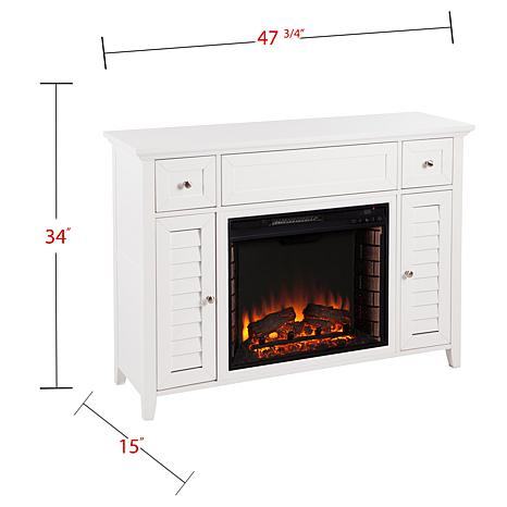 Fairbury 3 In 1 Electric Fireplace Media Console White 8578688 Hsn