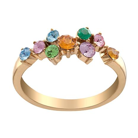 Family Birthstone Crystal Ring