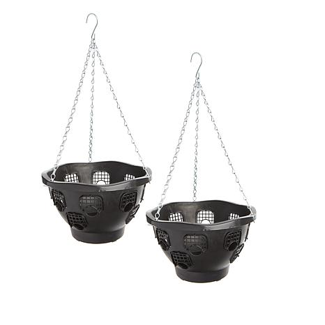 """FieldSmith 2-pack of 10"""" Ultimate Hanging Planter Baskets"""