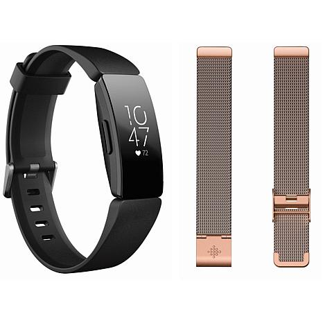 Fitbit Inspire HR Activity and Sleep Tracker with Mesh Metal Band