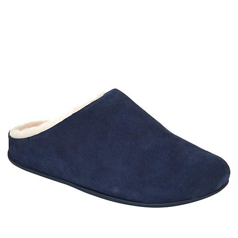 FitFlop Chrissie Suede Shearling Mule Slipper