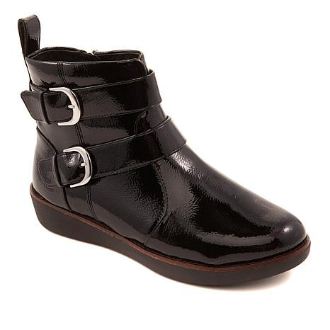 5b2dfdc8c0a8f1 FitFlop Laila Leather Double Buckle Boot - 8859079
