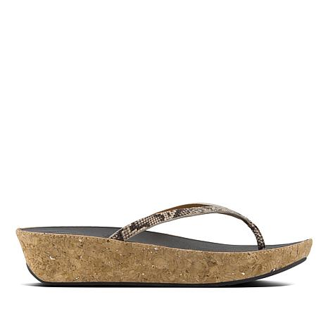 ce03d10852 FitFlop Linny Leather Toe-Post Sandal - 8762162 | HSN