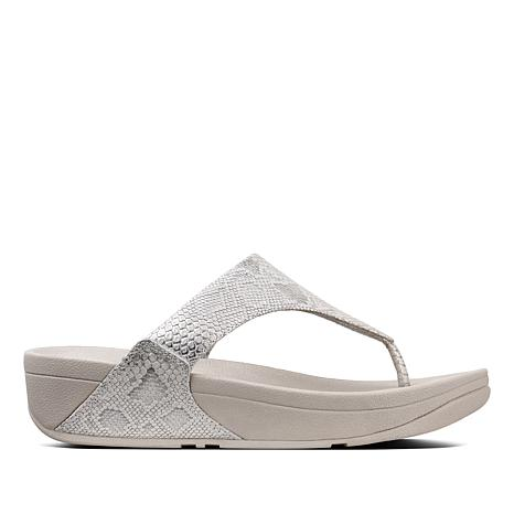 982e1026aa3e FitFlop Lulu Python Leather Toe Post Sandal - 8762113