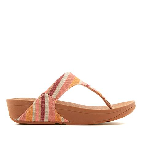 8cb515100 FitFlop Lulu Stripey Canvas Toe Post Sandal - 8762824