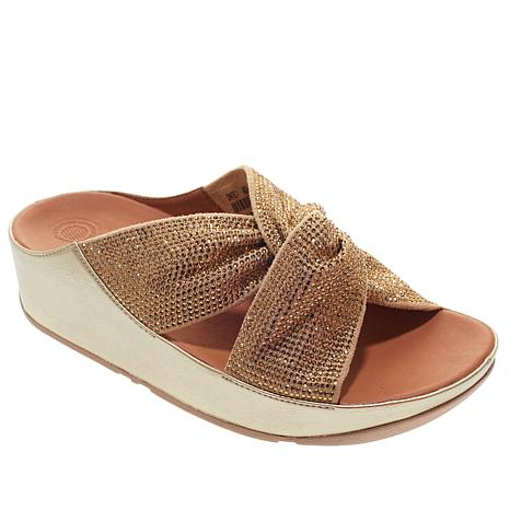 FitFlop Twiss Crystal Slide Sandal