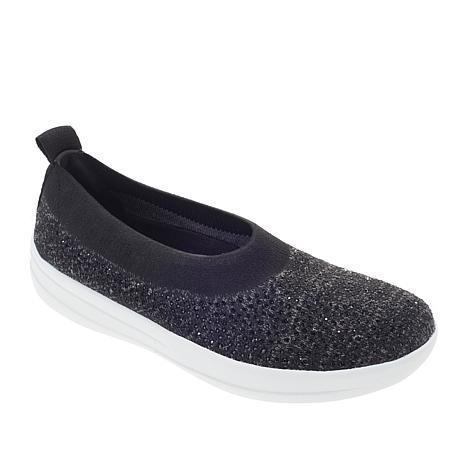 FitFlop ÜBERKNIT™ Crystal Slip-On Ballet Flat